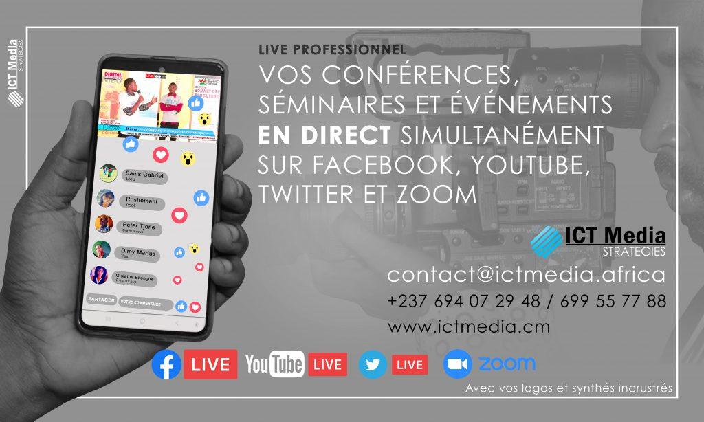 Live sur Facebook à Yaoundé